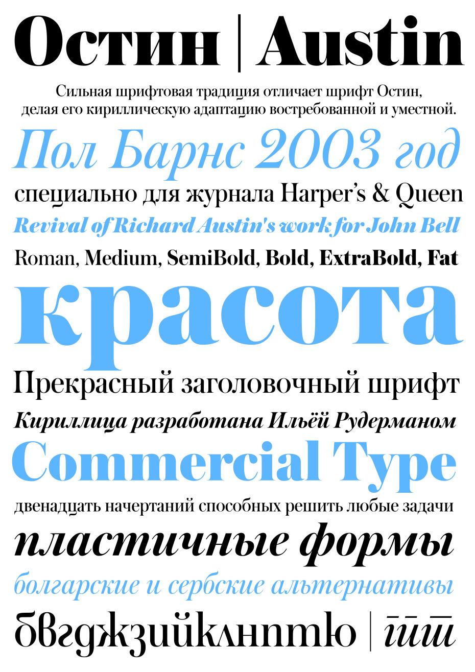 Шрифты в модном журнале